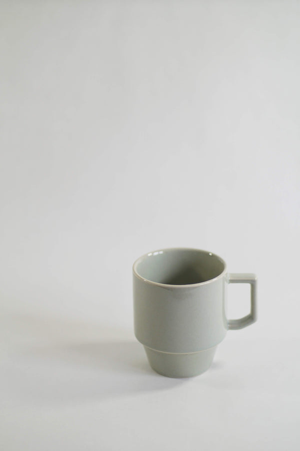 Hasami Porcelain Block Mug - Light Olive