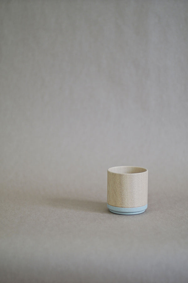 Roly Wood Cup - Gray