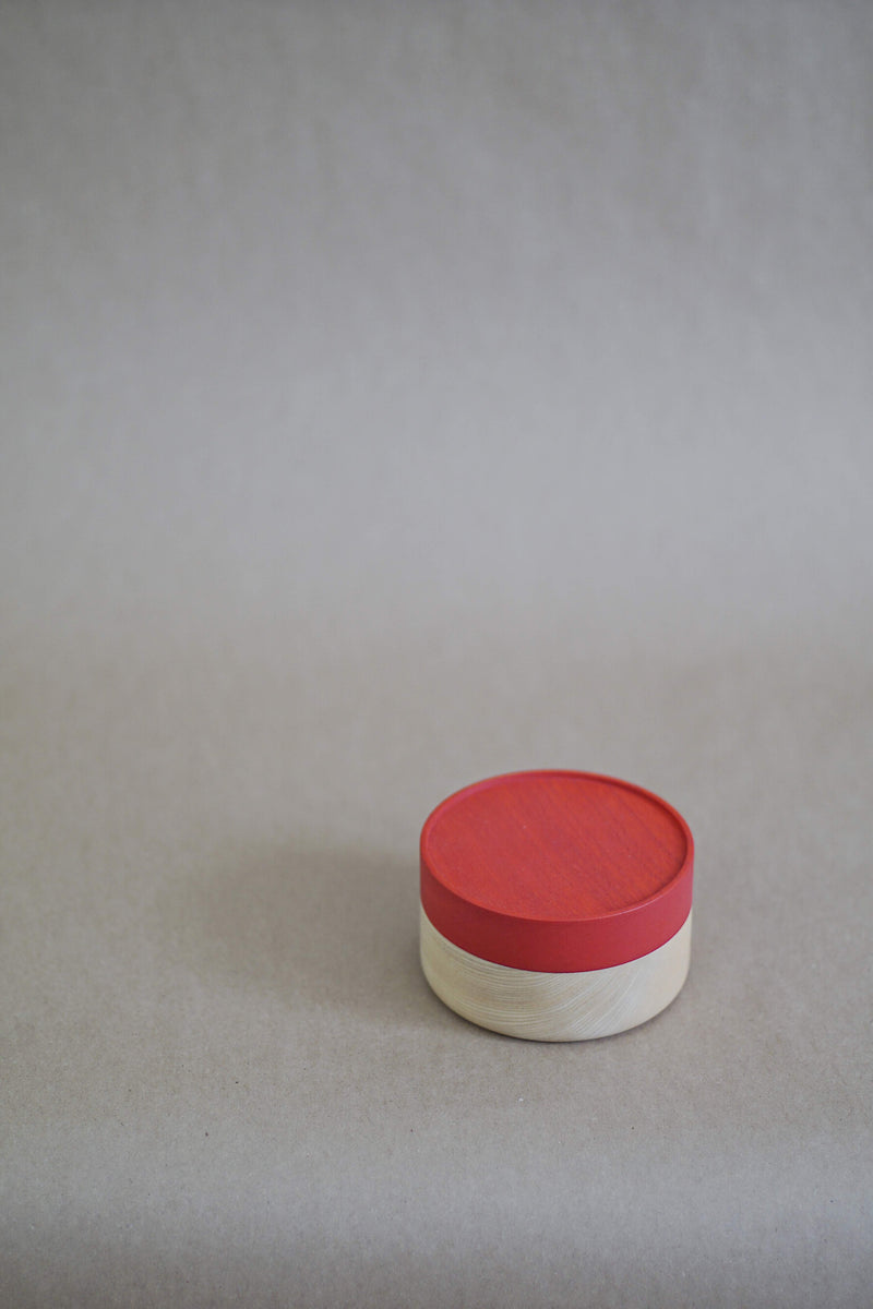 Hako wood container - Soji Collection - Small Red