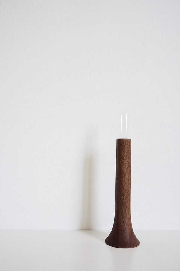 Single Flower Vase - Walnut