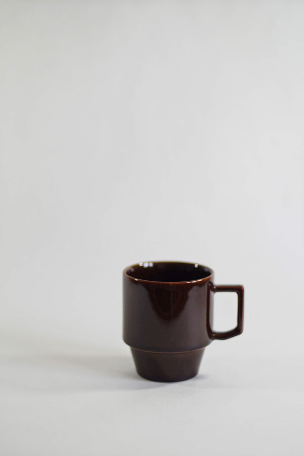 Hasami Porcelain Block Mug - Brown