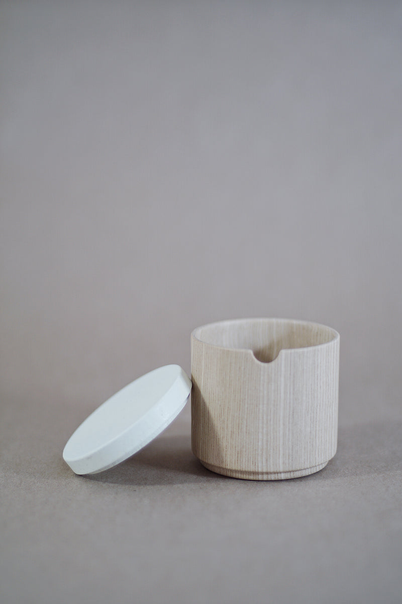 Roly Wood Container - White