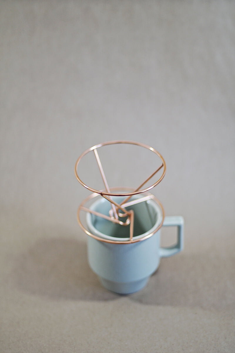 Wire Frame Coffee Dripper - Copper