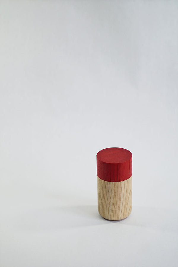 Tutu wood container - Soji Collection - Medium Red