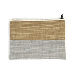 Beige and Gray Pouch