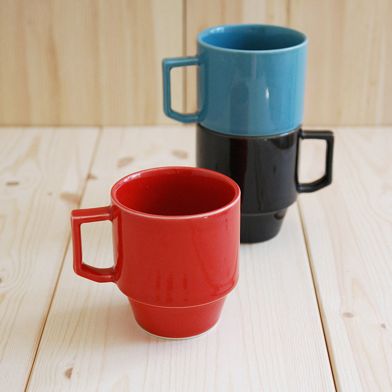 Hasami Porcelain Block Mug - Red