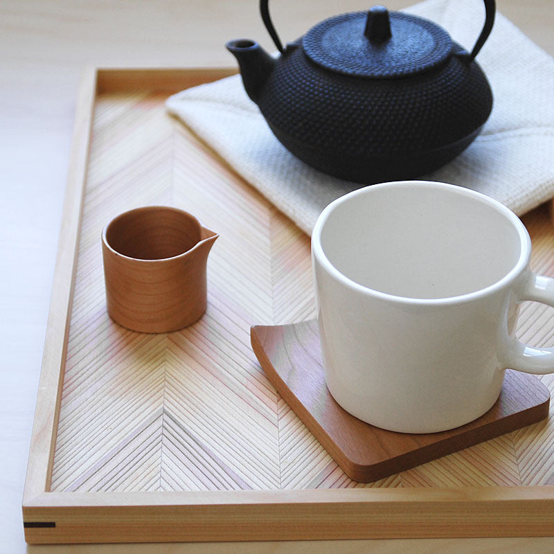 Coaster with a Folded Corner - Cherry
