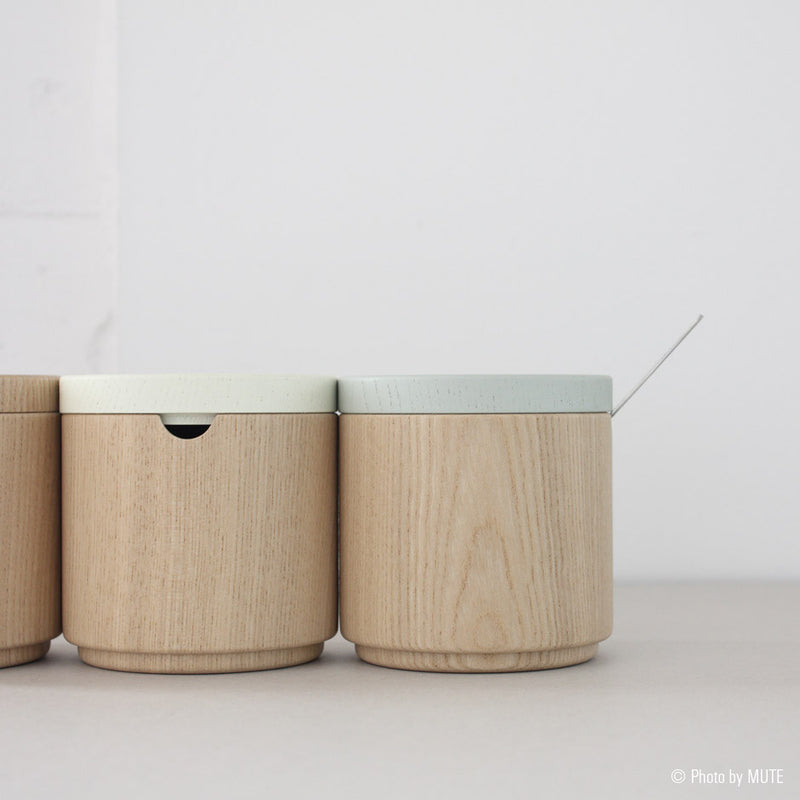 Roly Wood Container - Gray