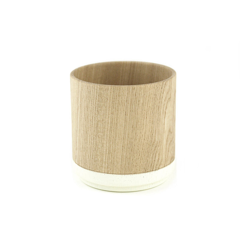 Roly Wood Cup - White