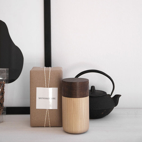 Tutu wood container - Soji Collection - Medium Brown