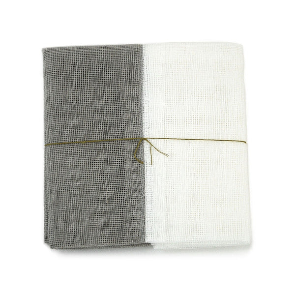 White and Gray Tea Towel