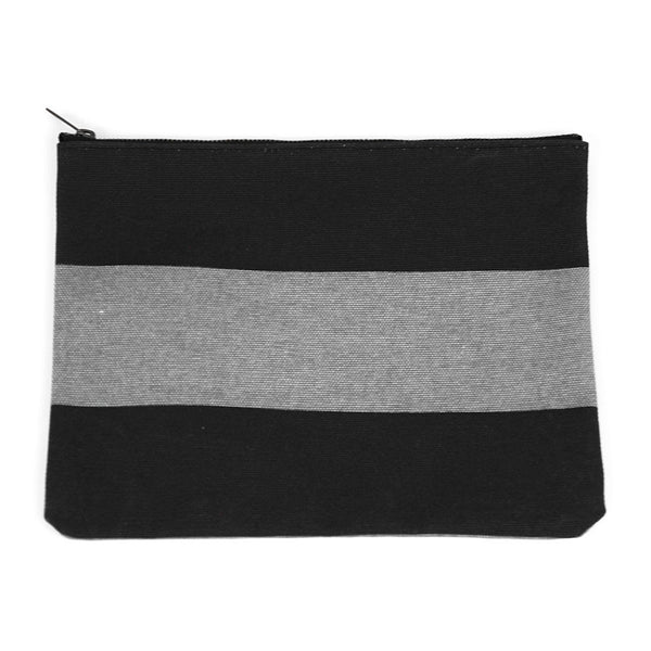 Black and Gray Canvas Pouch