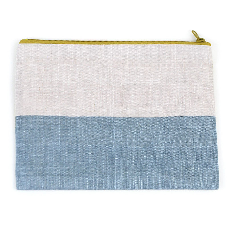 Triple Color Pouch - Pearl Indigo