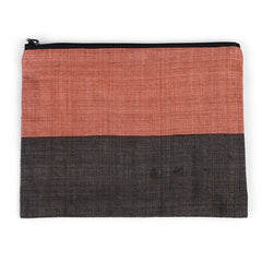 Triple Color Pouch - Dark Brown