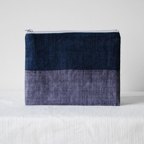 Triple Color Pouch - Blue Purple