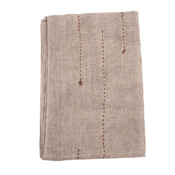 Red-Dotted Hemp Towel