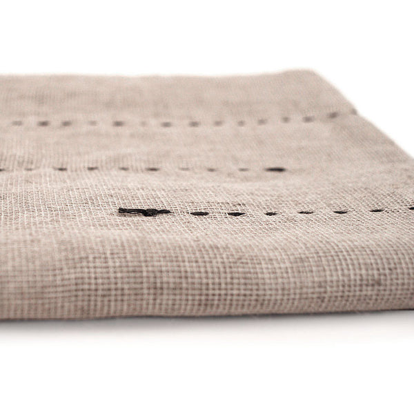 Gray-Dotted Hemp Towel