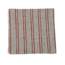 Natural Color Coaster with Red Stripes
