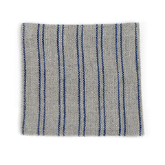 Natural Color Coaster with Blue Stripes