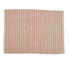 Natural Color Placemat with Red Stripes