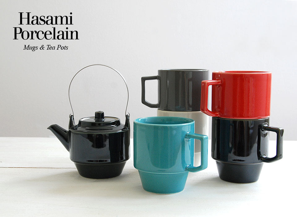 Hasami Block Mugs