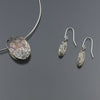 Mokume Oval Pendant and Earring Set