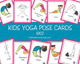 Kids Yoga Pose Cards 8x12 | Flash Cards | Educational Material | Printable