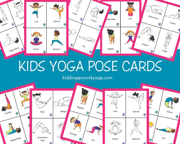 Kids Yoga Pose Cards | Flash Cards | Educational Material | Printable
