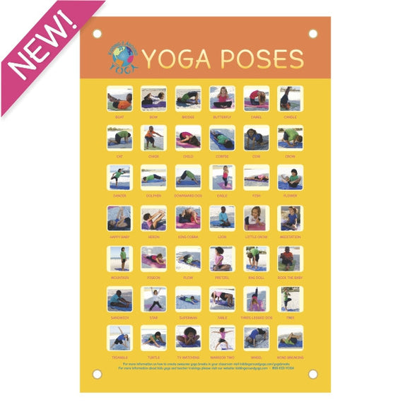 Kids Yoga Poses Poster | Kids Yoga | Educational Material | Printed Vinyl