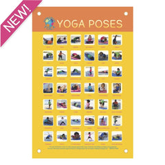 Yoga Poses Poster - Canvas