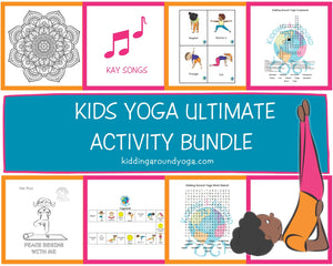 Kids Yoga Ultimate Activity Bundle | Flash Cards | Yoga Games | Yoga Songs | Downloadable