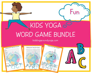 Yoga Word Game Bundle | Fun Kids Yoga Games | Printable