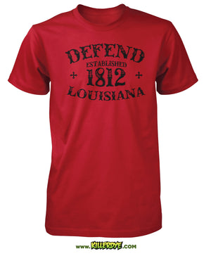 Est. 1812 - Defend Louisiana T-Shirt - Mens