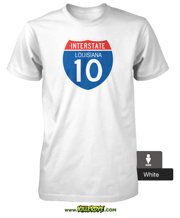 Interstate - I-10 - Louisiana T-Shirt