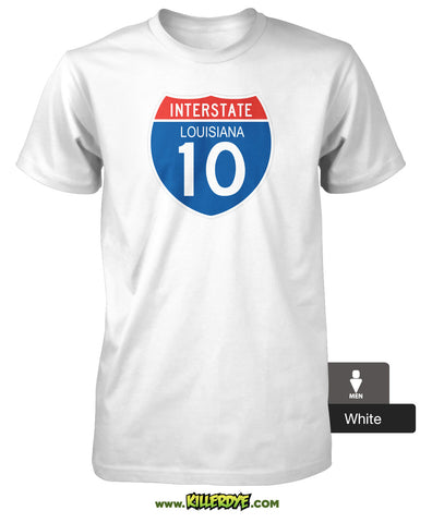 Interstate - I-10 - Louisiana T-Shirt - Men's