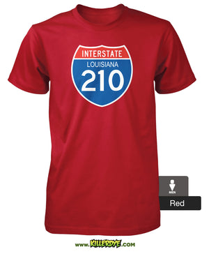 Interstate - I-210 Loop - Louisiana T-Shirt - Men's - KillerDye T-Shirts