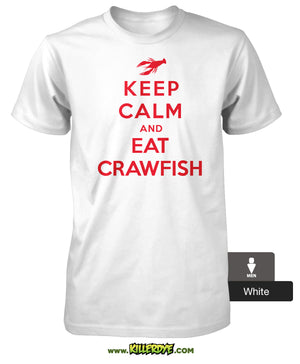 """Keep Calm and Eat Crawfish"" Tee - Men's"