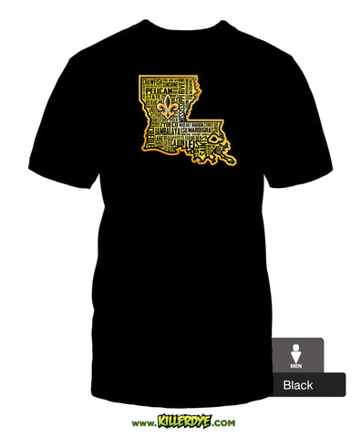 """Louisiana State Text"" T-Shirt - Men's"