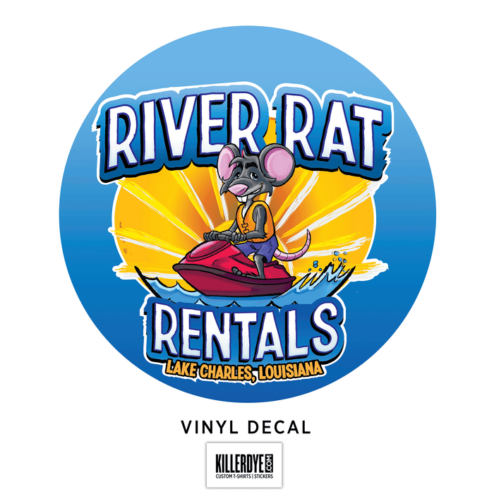 River Rat Rentals - Oval Sticker / Decal
