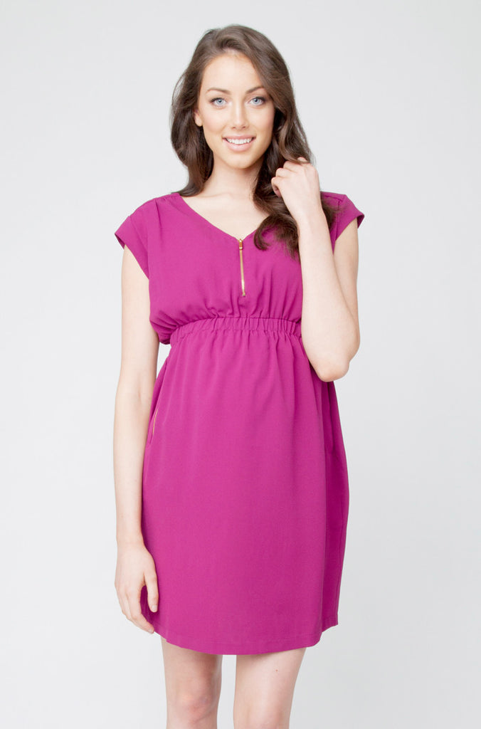 Belle Nursing Tunic- Viola
