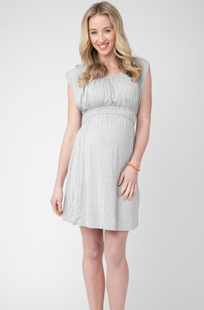 Lou Lou Nursing Dress- Silver Marle