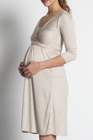 Mothers En Vogue :: 3/4 Wrap Pregnancy & Nursing Dress available from Nourishing Apparel
