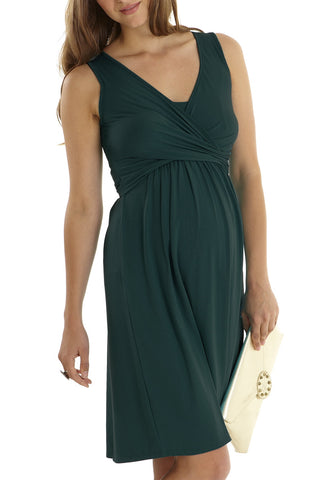 Wrap Dress Sleeveless Mothers En Vogue available from NourishingApparel.com
