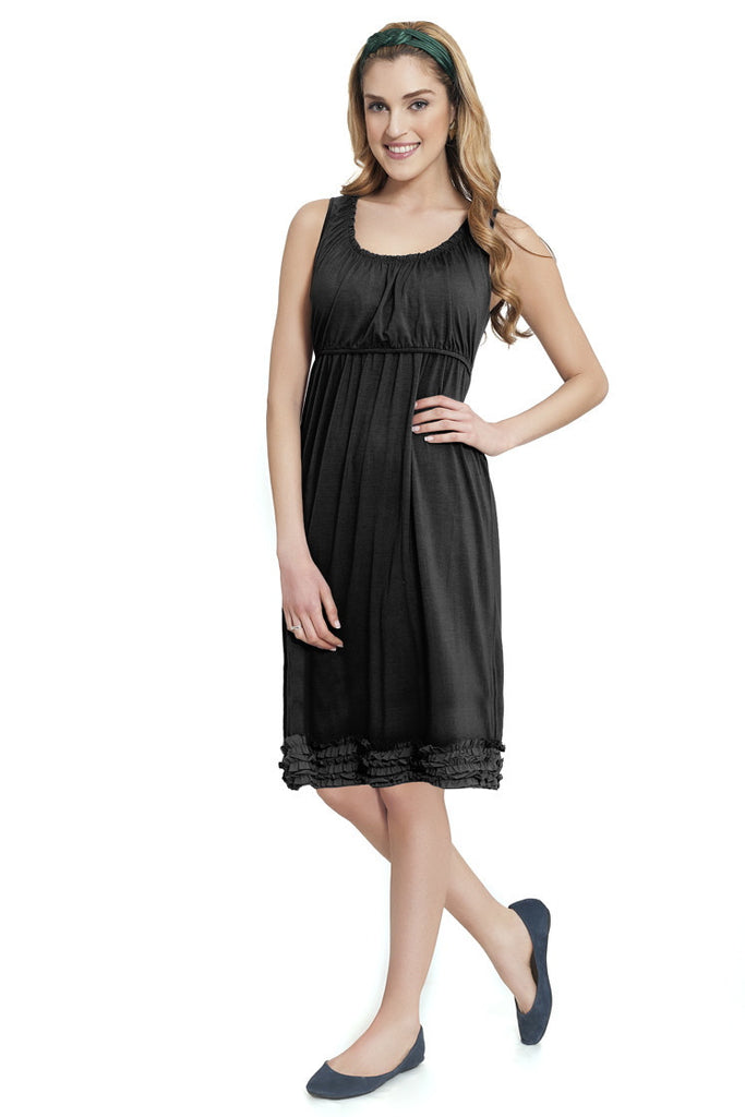 Ruffle Pregnancy & Nursing Dress