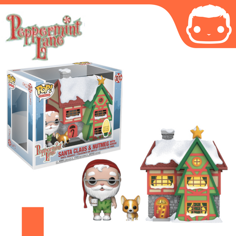 #1 - Peppermint Lane - Santa Claus & Nutmeg With House