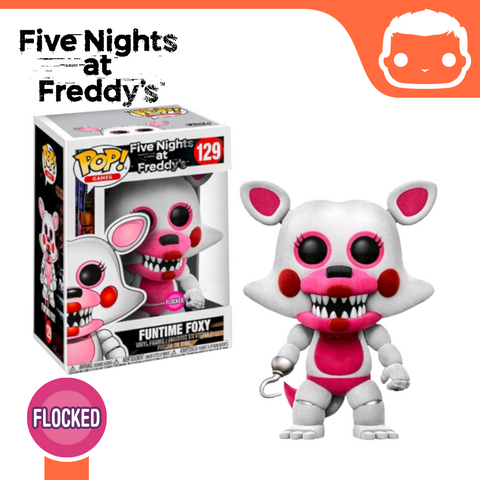 #129 - FNAF - Funtime Foxy (Flocked)