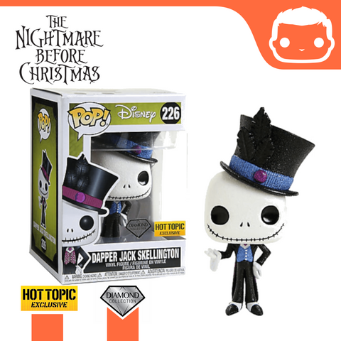 #226 - Nightmare Before Christmas - Diamond Glitter Dapper Jack Skellington Hot Topic Exclusive