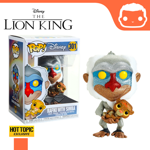 #301 - Diamond Glitter Rafiki Holding Simba - Hot Topic Exclusive