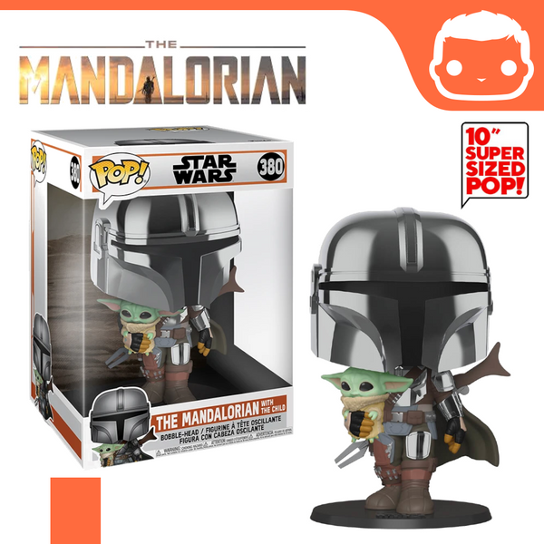 "#380- The Mandalorian With The Child 10"" Supersized Chrome Exclusive"