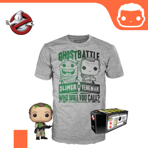 Ghostbusters POP! & Tee Box Dr. Peter Venkman heo Exclusive